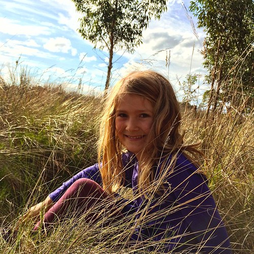 064/365 • this afternoon the Smalls and I went exploring, seeing how many different kinds of birds we could see • #064_2015 #wetlands #Westernport #mangroves #blindbight #birds #7yo #grass #nature #autumn2015