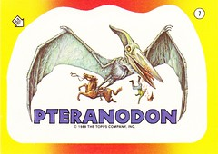 Dinosaurs Attack Topps Sticker Pteranodon 1988 (sdwalden6) Tags: classic vintage sticker stickers attack nostalgia 80s 1980s dinosaurs tradingcards pterosaur pteranodon flyingdinosaur dinosaursattack