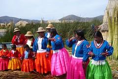2007 - Peru - Lake Titicaca - The Inhabitants of the Floating Village (bellrockman2011) Tags: peru laketiticaca knitting cusco quinoa weaving puno taquileisland yavari lakedwellers