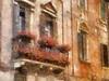 Verona facade (Vicki Devine) Tags: italy facade verona flowerbox autopainter
