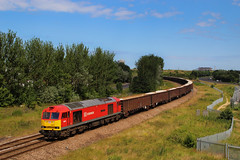 Sixty Slags for Scunthorpe (60019) (Steven Atkinson) Tags: slag steel db cargo class works tug 60 dbs steelworks schenker dbc class60