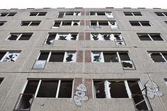 Shattered Windows (baurichter) Tags: berlin monument concrete plattenbau ddr derelict gdr urbanexploring urbex wollenbergerstrasse