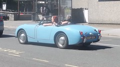 1960 Austin Healey Sprite (occama) Tags: old uk blue summer sun eye sports car austin cornwall sprite frog british healey 1960 wam664