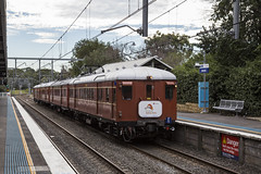 "2016-07-22 Sydney Trains F1 Jannali 990B C7396 (Dean ""O305"" Jones) Tags: jannali newsouthwales australia au f1 single decker standard set heritage train red rattler sydney nsw trains c7396 illawarra line south coast"