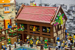 The Market Gate - Tavern 1 (Bricktease) Tags: lego moc market gate medieval tbb afol bricktease bricknetwork legos custom model scene king queen knights game thrones