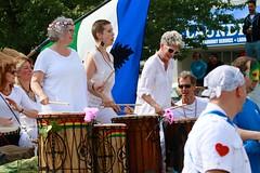 Fremont Solstice 2016  2030 (khaufle) Tags: solstice fremont wa usa parade drum flag cascadia