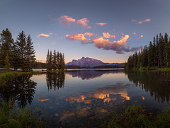 Two Jack Lake Canada (Peter & Olga) Tags: d810 olgabaldock mountains pano lake sunset reflections canada twojacklake workshop phillipnorman 2016