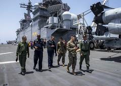 160710-N-TO519-003 (CNE CNA C6F) Tags: amphibiousreadygroup atlanticocean lhd1 marines moraccanmarines moraccannavy morocco sailors usmarinecorps usnavy usswasp wasparg partnership tour moroccan