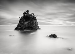 A Dream within a Dream (hiromichiendo) Tags: japan longexposure art bw blackandwhite monochrome landscape nature minimalism fineart silence tranquil still zen seascape rocks abstract nd
