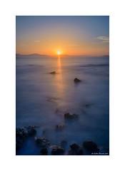 Sunset light beam (g.femenias) Tags: longexposure sunset sea sky seascape landscape rocks beam mallorca sunsetlight art ndfilter sunsetbeam sacolniadesantpere