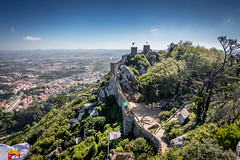 King of the hill (Mika Laitinen) Tags: canon7dmarkii europe portugal sintra cloud landscape nature outdoor sky summer lisboa pt castle mountain hill tokina1116mm old tree