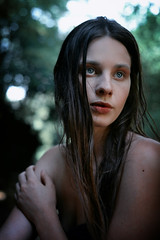 Air Nymph (Arianna Ceccarelli Photography) Tags: blue trees portrait people woman green nature wet water girl beautiful beauty face hair photography model eyes woods nikon photographer photoshoot natural air fineart makeup lips shooting conceptual pure makeupartist freckless