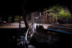 patience. (jonathancastellino) Tags: park street leica trees sun toronto tree classic car wheel mercedes interior m summicron parked through patience