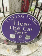 03-Talking Statue Hear the Cat Here (1 of 1) (md2399photos) Tags: 11aug16 dickwhittingtonscat highgatecemetery karlmarx london notesonblindness stpancras themeetingplacebypaulday