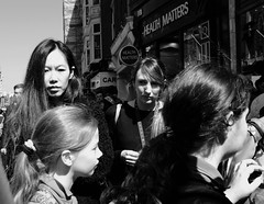 (Martyn61) Tags: ireland dublin bw monochrome blackandwhite asian girl fujifilm x1oot streetphotography social crowd blackeyes hair