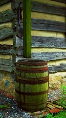 rain barrel (Hodag Pete) Tags: cabin newmarket mossy rainbarrel