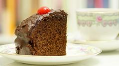Smells and tastes delicious (judith511) Tags: odc senses taste smell texture cake chocolate icing tea chocolatecake