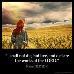 Psalms 118:17 (@CHURCH4U2) Tags: bible verse pic image picture daily king james version kjv psalms 11817