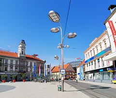 Osijek city (golyakj) Tags: osijek city center centre centar promenade hrvatska croatia horvátország eszék day sunshine blue sky outside street