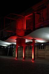 la vilette red&white #2 (JeSuisBelfouf) Tags: d610 nikon 50mm architecture colorful couleurs rouge blanc white red night nuit paris