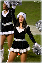 2015 Oakland Raiderette Monica (billypoonphotos) Tags: 2015 oakland raiders raiderette raiderettes raider nation raidernation nfl football fabulous females coliseum cheerleaders cheerleading christmas santa hat monica dance dancer nikon d5200 billypoon billypoonphotos silver black photo picture pretty girl lady woman squad team san diego chargers