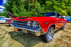 1969 Chevy Chevelle (hz536n/George Thomas) Tags: deeracres 2016 cs5 canon canon5d chevelle chevrolet chevy ef1740mmf4lusm hdr michigan pinconning summer carshow copyright linwood nik upnorth