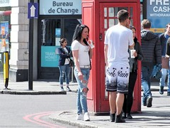 London Tourists (Waterford_Man) Tags: london girl street people path candid