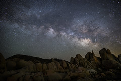 Another Moment to Think about Time and Space - Joshua Tree National Park (Xiang&Jie) Tags: milkyway milky star stargazing night nightsky landscape joshua joshuatreenationalpark joshuatree nationalpark rock rockformation dark