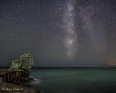 Milky Portland (JustAnotherCanonOperator (JACO)) Tags: galaxy portlandbill samyung24mm stars night meteor pulpitrock perseids astronomy milkyway astro
