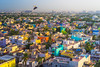 Early Morning in urban Chennai, India (aotaro) Tags: earlymorning fe55mmf18za morninglight landscape hiltonchennai city india chennai colorfulhouses flyingbird cityscape colors morning ilce7m2 urbanchennai
