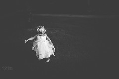 Whimsy...learning to twirl (austinsGG) Tags: 2016 aubrie flowercrown july pinkdress twirl whimsical blackandwhite freelensed lightshadow