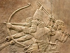 Detail of relief from the North Palace of Ashurbanipal, Nineveh, Iraq - British Museum (Kathryn Dobson) Tags: palace nineveh ashurbanipal iraq relief sculpture museum britishmuseum assyrian