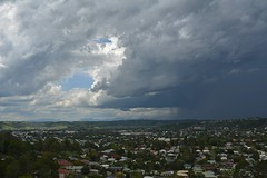 Lismore, jewel of the [not very far] north... (dustaway) Tags: summer sky storm rain clouds landscape town australia nsw thunderstorm australianlandscape townscape cloudscape lismore cumulonimbus northernrivers australianweather afternoonlandscape wilsonsrivervalley