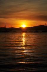 "love your ""trail"" (Ruby Ferreira ®) Tags: sunset boats barcos silhouettes hills pôrdosol silhuetas southernbrazil florianópolissc trailofsun"