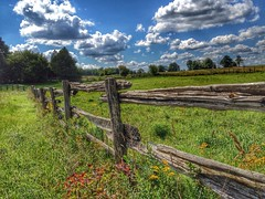 Rural Fence (Images By Cathrine) Tags: nature field clouds fence landscape farm