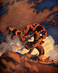 """""""Cadmus Sowing the Dragon's Teeth."""" Art by Maxfield Parrish for Nathaniel Hawthorne's """"Wonder Book"""" (1910) (lhboudreau) Tags: illustration book artist drawing illustrations drawings books fantasy illustrator 1910 stories hawthorne bookart parrish hardcover duffield cadmus maxfieldparrish nathanielhawthorne wonderbook dragonsteeth hardcovers childrenstories tanglewoodtales awonderbook duffieldcol duffieldcompany sowingthedragonsteeth"""