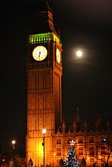 Full Moon at Big Ben (Loco Steve) Tags: uk london de december bigben decemberr fullcoldmoon coldmoon