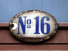 16 numero (Eva the Weaver) Tags: house number 16 address numero