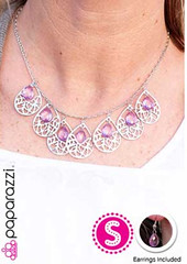 Glimpse of Malibu Purple Necklace K3 P2430-5