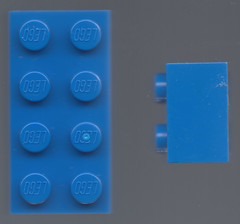 Study of the LEGO brick (rioforce) Tags: blue brick 3d lego render plastic study rioforce