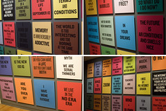 Slogans for the 21st Century (gunstreet.girl) Tags: art vancouver writing douglascoupland vancouverartgallery quadriptych