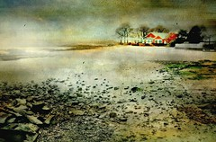 Stay in My Corner (floralgal) Tags: seascape beach landscape beachhouse longislandsound ryenewyork newyorklandscape painterlylandscape newenglandcoastline