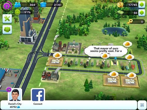 SimCity BuildIt Social: screenshots, UI