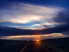 Death Valley National Park (Cat Connor) Tags: california road park blue sunset mountains landscape death day desert cloudy scenic national valley