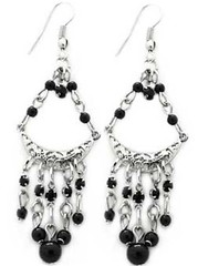 5th Avenue Black Earrings P5110A-5