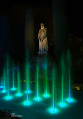 Contemplando (DaniFdezKarbo) Tags: espaa luz luces noche andaluca spain agua fuente nocturna crdoba alczar alczardelosreyescristianos