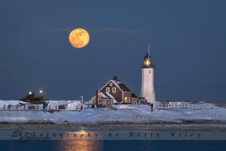 Full moon over Scituate