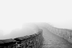 Gonzalez_Great Wall (fjrgonzalez photo) Tags: china travel bw fog wall digital delete5 delete2 blackwhite nikon asia delete6 great save3 delete3 delete delete4 save save2 worldheritage deletedbydeletemeuncensored