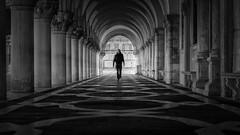 Walking The Walk (Jarrad.) Tags: venice italy blackwhite nikon streetphotography architectural 70200mm d800e jaymarksimages
