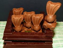 Choc-a-bloc with bunnies (Les Fisher) Tags: macromondays theme chocolate rabbit smileonsaturday rabbits shadesofbrown